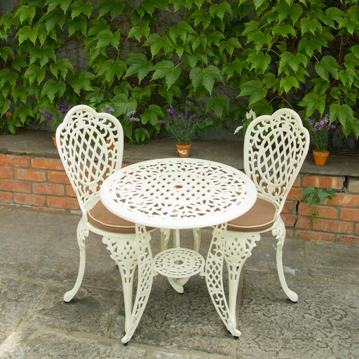 Ballygowan Bistro Set Table Two Chairs With Cushions - Mayflower Furniture