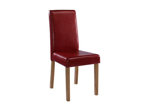 Oakridge Pair Of Faux Leather Dining Chairs - Four Colours - Mayflower Furniture