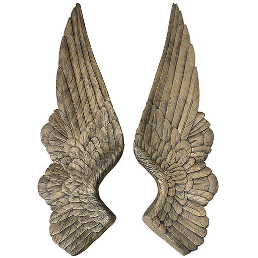 Set of 2 Gold Angel Wings Decoration - Mayflower Furniture