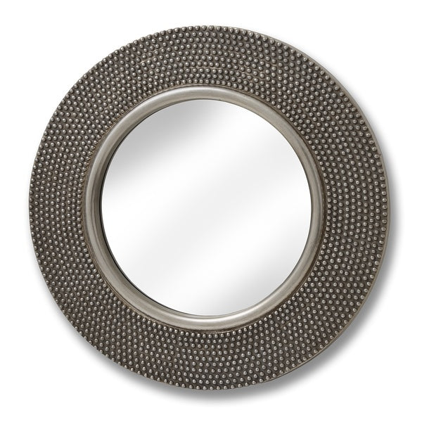 Large Circular Beaded Mirror