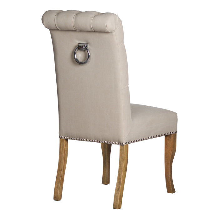 Rolled Top Dining Chair With Knocker