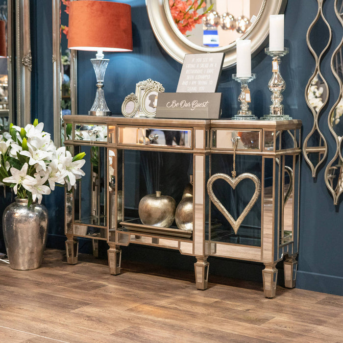 The Venice Collection Mirrored Display Console
