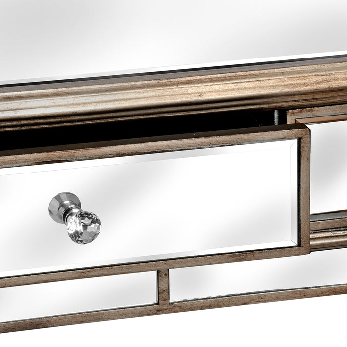 The Belfry Collection 2 Drawer Mirrored Console Table - Mayflower Furniture
