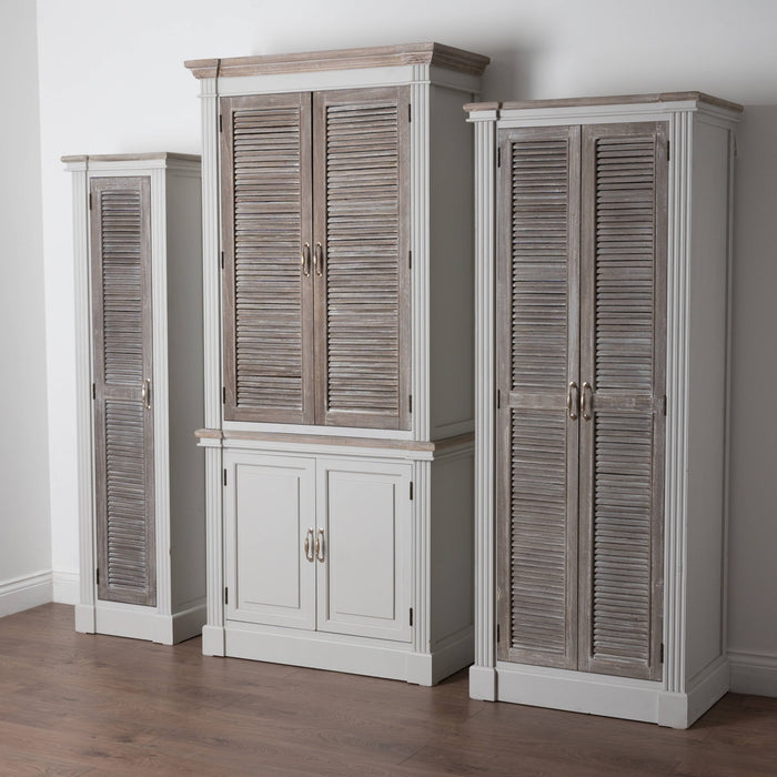The Libre Collection Linen Cupboard With Louvered Doors