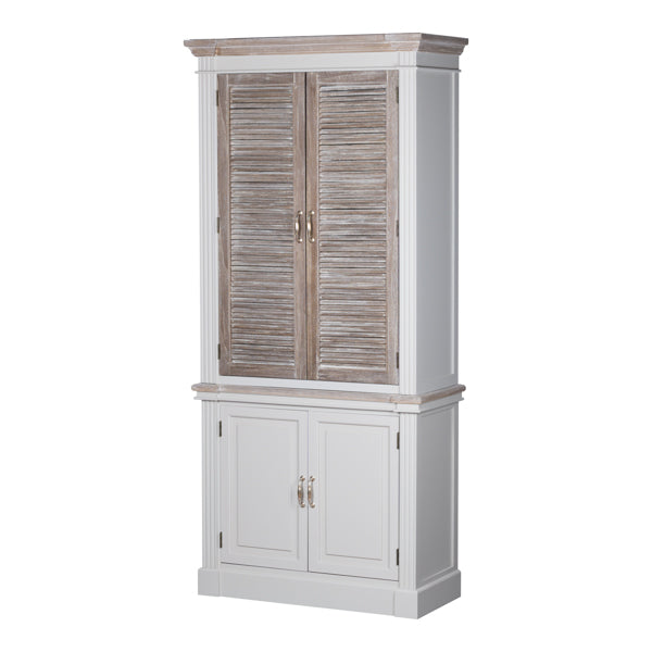 The Liberty Collection Linen Cupboard With Louvered Doors - Mayflower Furniture