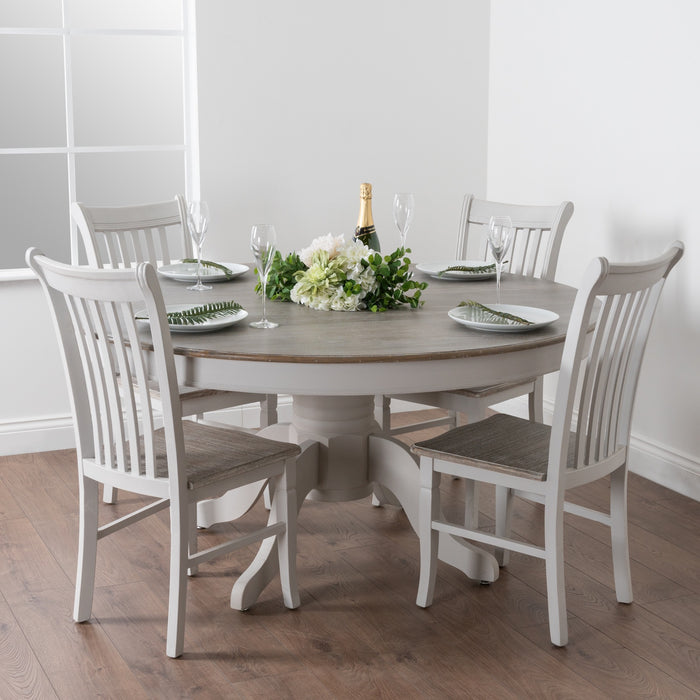 The Liberty Collection Large Round Dining Table - Mayflower Furniture