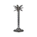 Silver Palm Tree Candle Holder In A Nickel Finish - Two Sizes - Mayflower Furniture