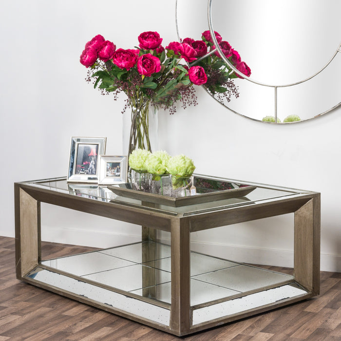 Large Augustus Mirrored Coffee Table - Mayflower Furniture