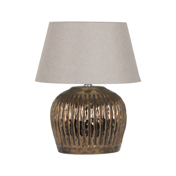 Chancel Bronze Metallic Ceramic Table Lamp