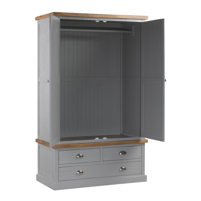 The Byland Collection Three Drawer Two Door Wardrobe - Mayflower Furniture