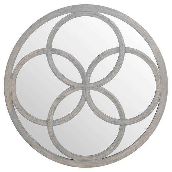 Flower of Life Grey Painted Mirror - Mayflower Furniture