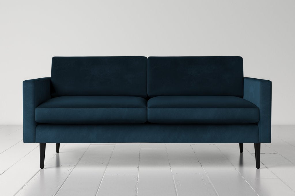 Swyft Model 01 Velvet & Linen Two Seater Sofa - Seven Colours Available - Mayflower Furniture