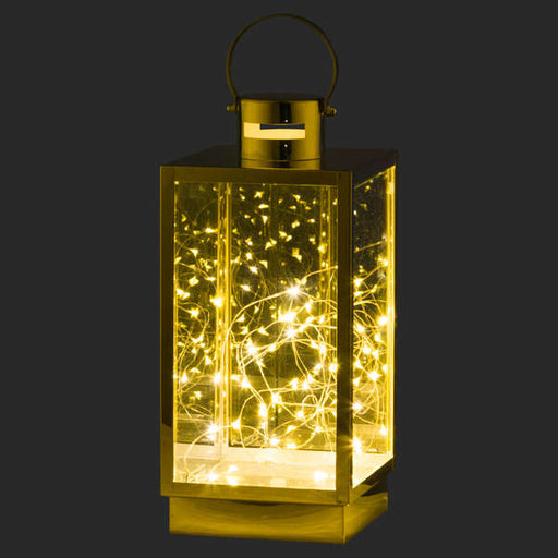 Brass Lantern With Led Micro Lights - Small Or Large - Mayflower Furniture