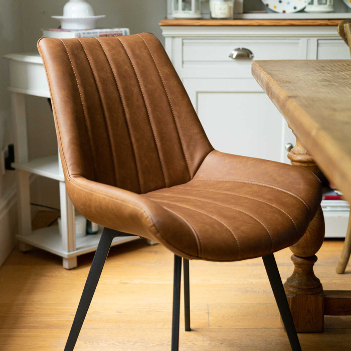 Malmo Tan Dining Chair - Mayflower Furniture