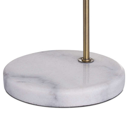 Marble And Brass Industrial Adjustable Desk Lamp - Mayflower Furniture