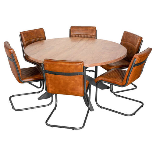 Live Edge Collection Large Round Dining Table - Mayflower Furniture
