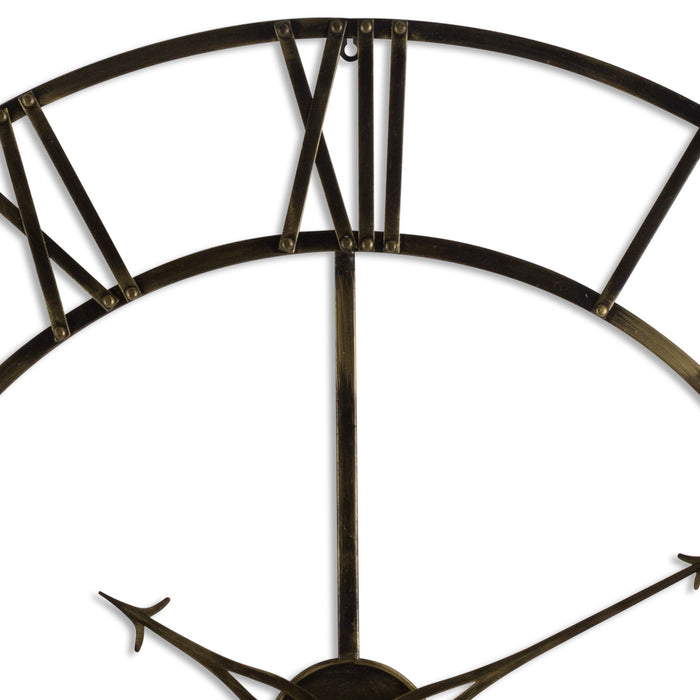 Large Antique Brass Large Skeleton Clock - Mayflower Furniture