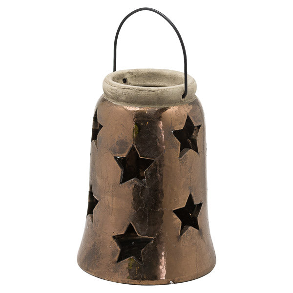 Evoke Antique Bronze Star Lantern