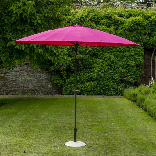 Shanghai Parasol - 2.7m in Magenta - Mayflower Furniture