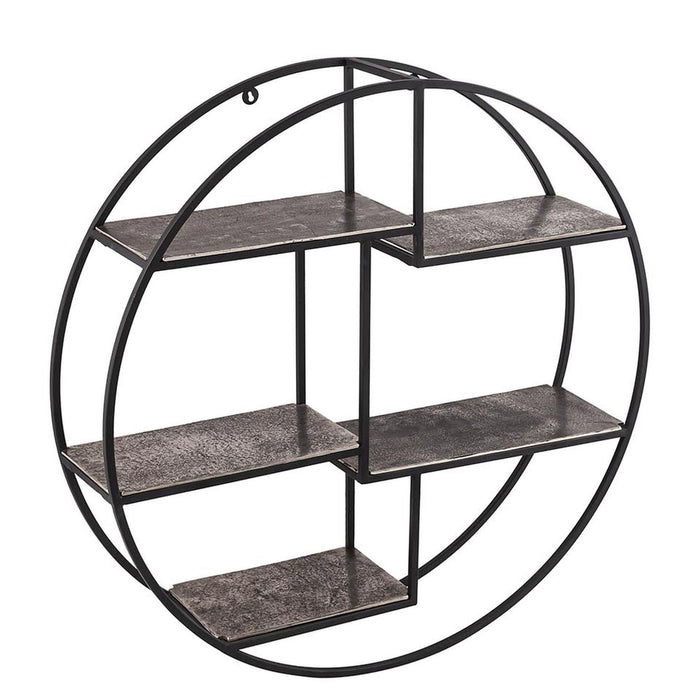 The Bowland Collection Silver Circular Wall Hanging Multi Shelf