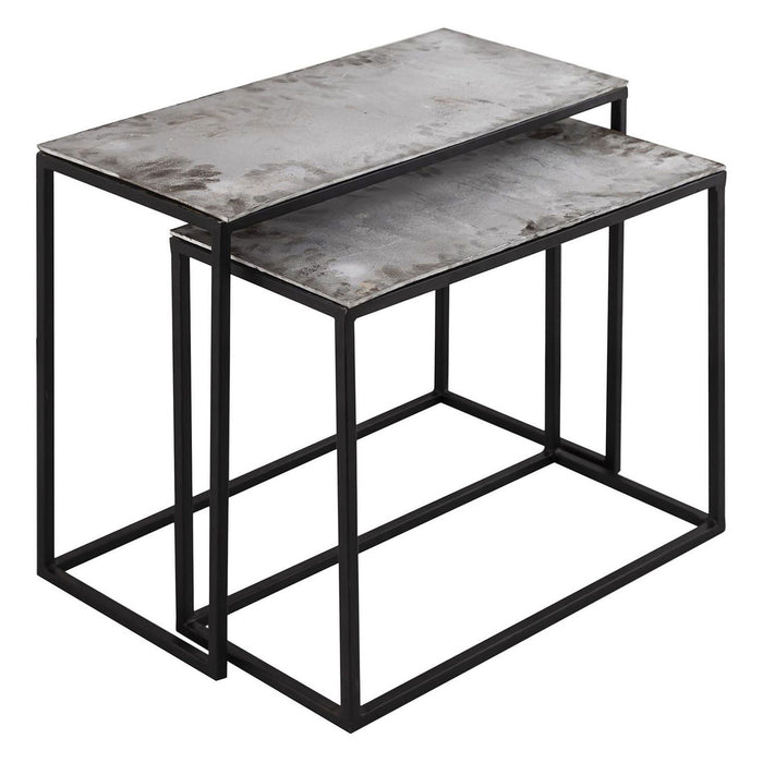 The Bowland Collection Silver Set of Two Side Tables