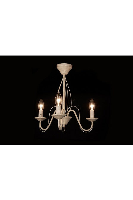 Brushed Cream Chandelier - Three Light
