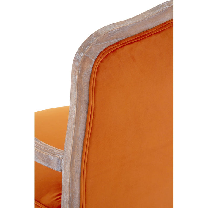 Burnt Orange Country Home Chair & Footstool