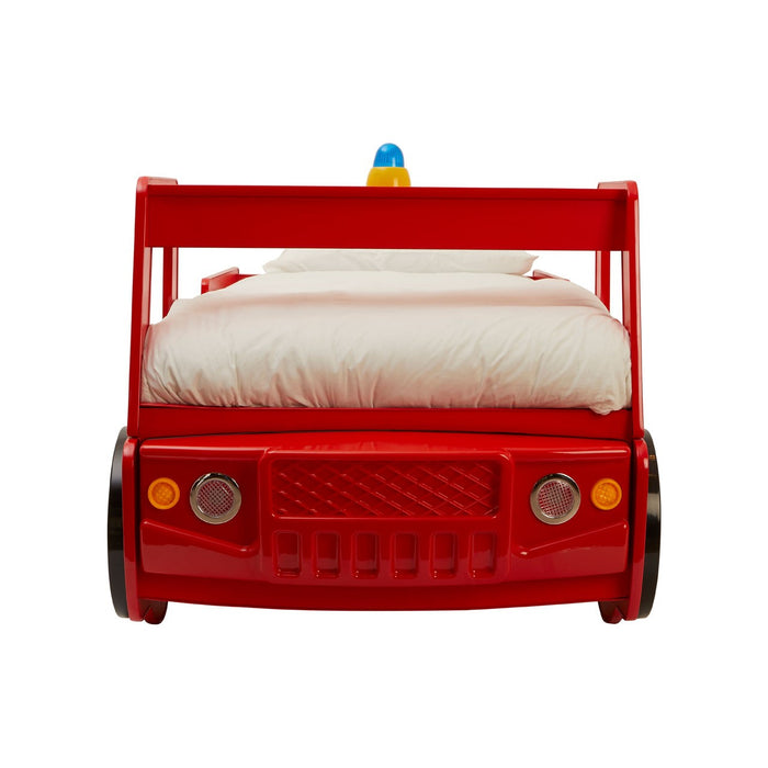 Children's Red Fire Engine Bed