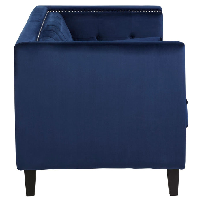 Vina Two Seat Midnight Velvet Sofa