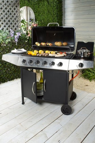 Ogien Six Burner BBQ and Side Burner - Mayflower Furniture