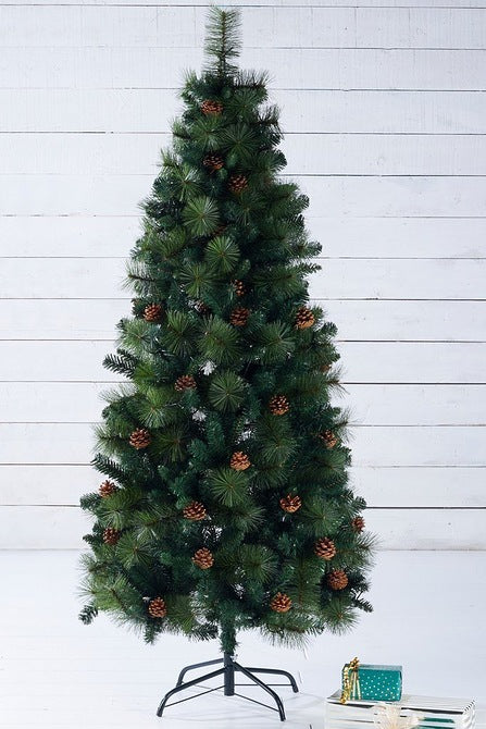 Unlit Pine Cone Christmas Tree 7ft