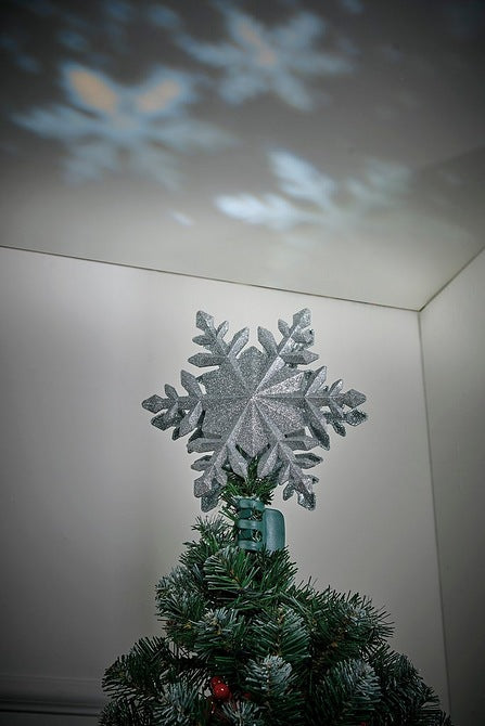 Christmas Snowflake Tree Topper Projector