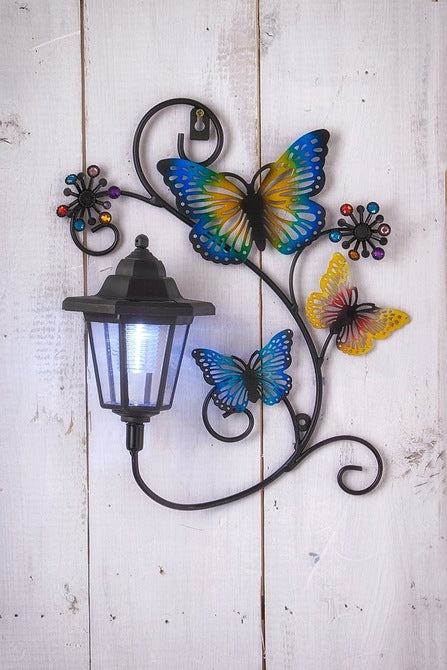 Solar Butterfly Wall Plaque - Mayflower Furniture