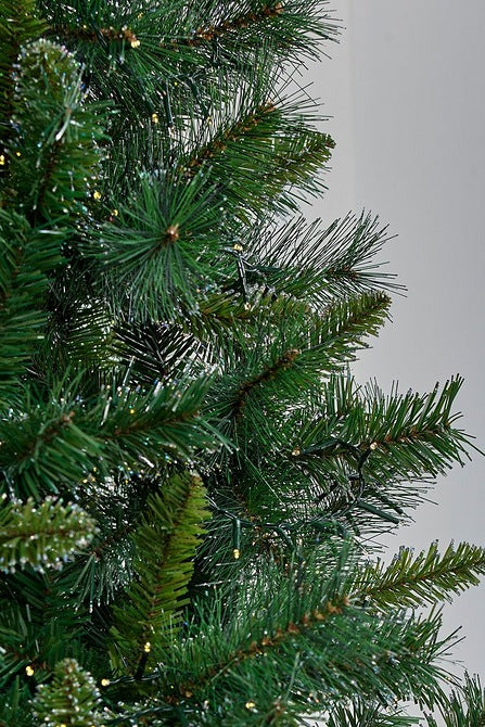 7ft Luxury Glitter Tipped Narvik Green Spruce Christmas Tree