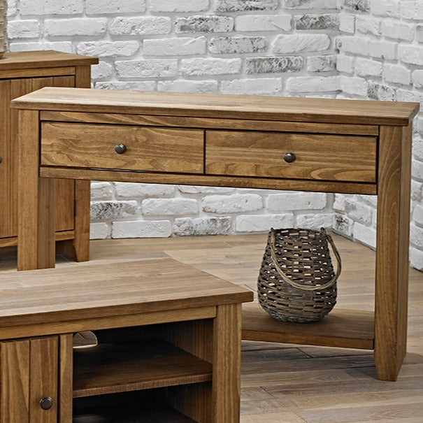 Havana Solid Pine Console Table - Mayflower Furniture