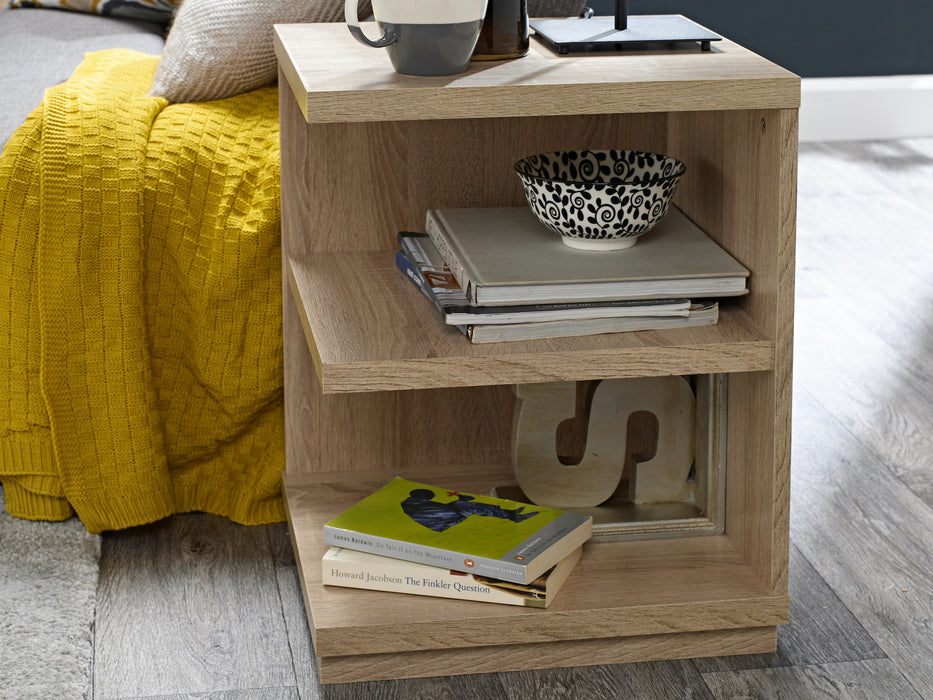 Oslo Sonoma Lamp End Table - Mayflower Furniture