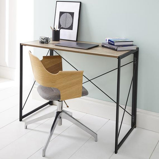 Folding Table In Black Powder Coating - Mayflower Furniture