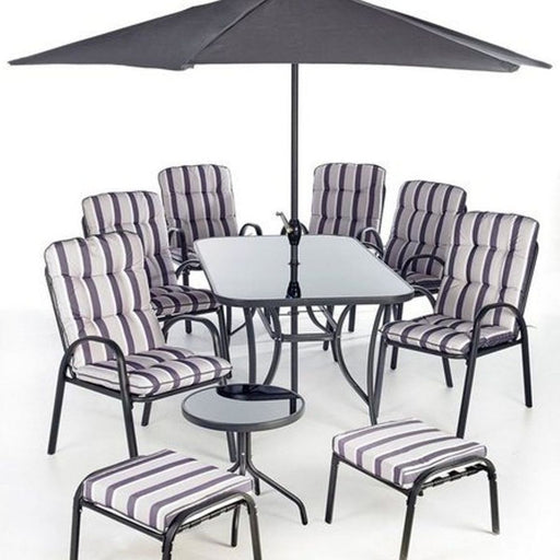 Garden Patio Outdoor Dining Set Cushions Grey - Mayflower Furniture