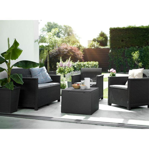 Outdoor Keter Emma Lounge Set with Storage Table - Mayflower Furniture
