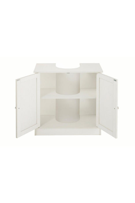 Three-Piece Bathroom Furniture Set White