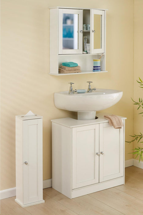 Bathroom Mirror Cabinet White