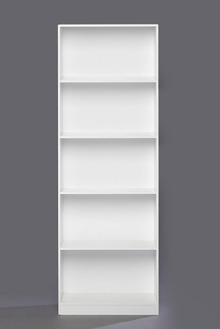 Five Tier Tall Shelf Unit White