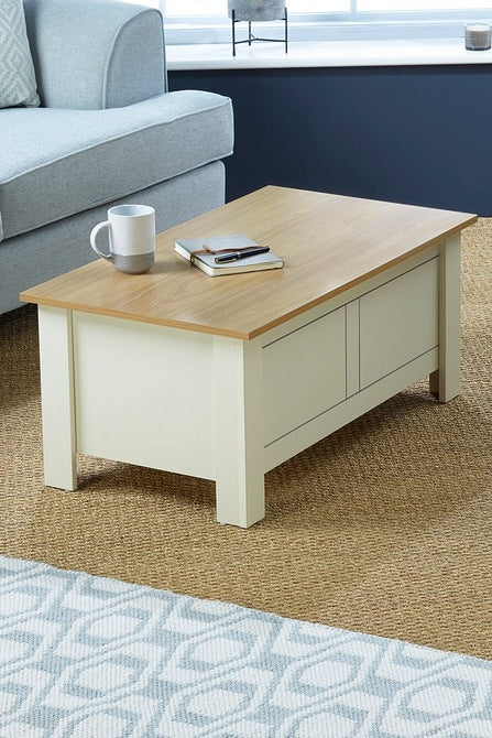 Sherbourne Lift Top Coffee Table Cream