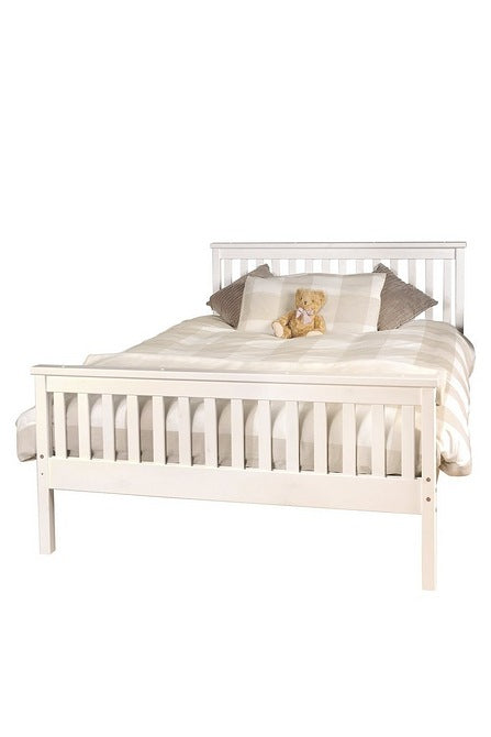 Atlantis Wooden Bed White