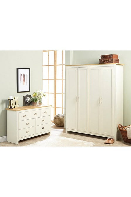 Lancaster Chest of Drawers Cream - Mayflower Furniture