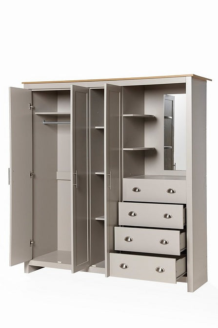 Lancaster Wardrobe Combi Unit Grey