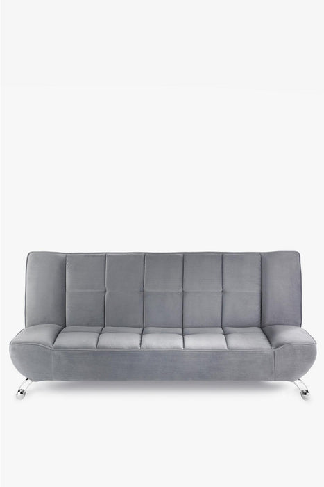 Genoa Sofa Bed Velvet Grey - Mayflower Furniture