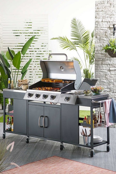 Kentucky Kitchen Four Burner BBQ - Mayflower Furniture
