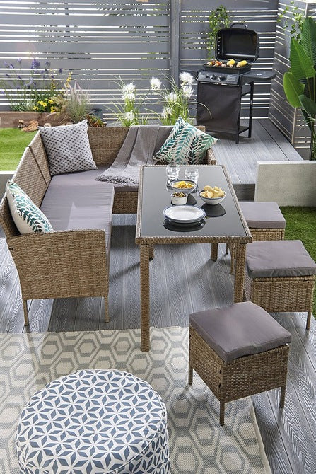 Marrakech Corner Rattan Set Natural - Mayflower Furniture