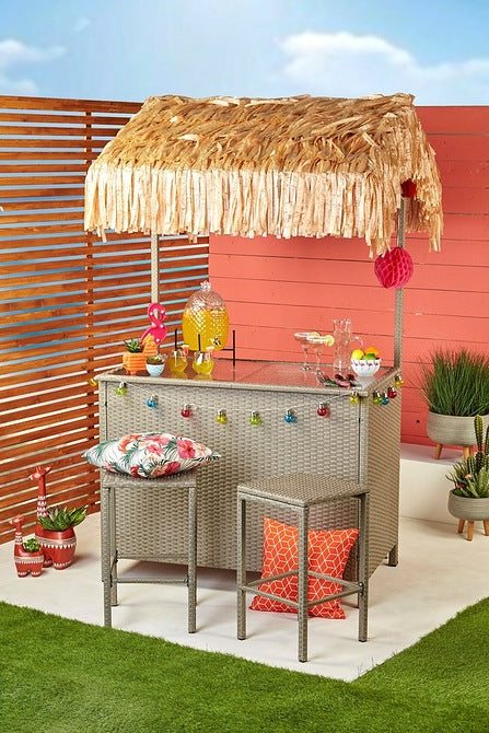 Tiki Three Piece Bar Set Poly-Rattan - Mayflower Furniture